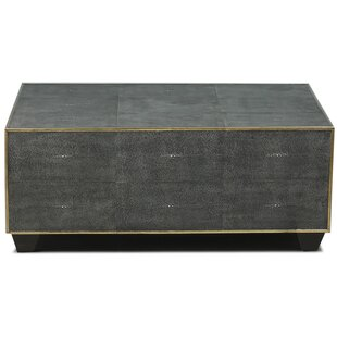 Sarreid Ltd Leather Shagreen Coffee Table