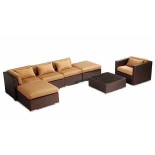Lanai 7 Piece Sectional Set with Cushions