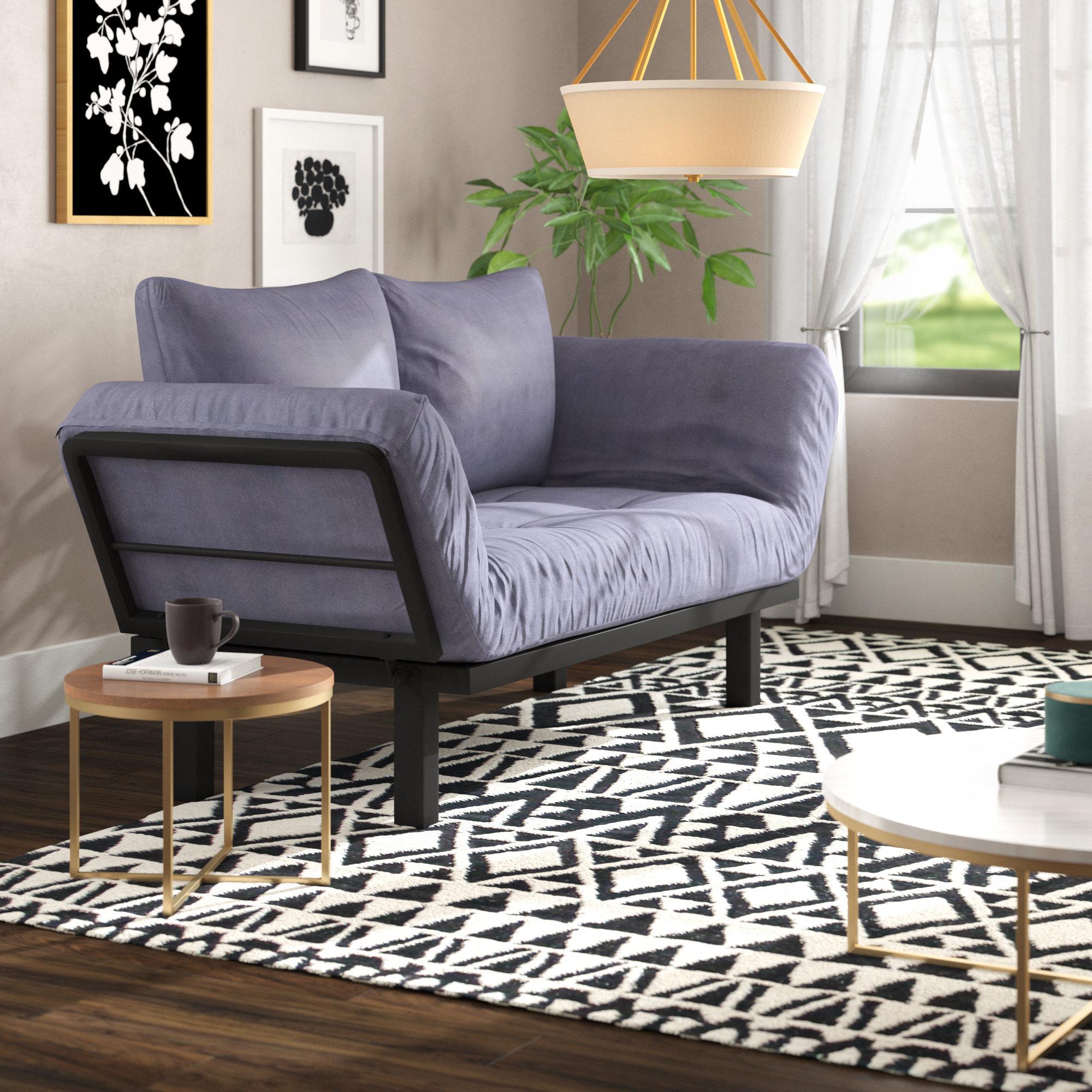 Ebern designs everett convertible lounger futon and mattress reviews wayfair