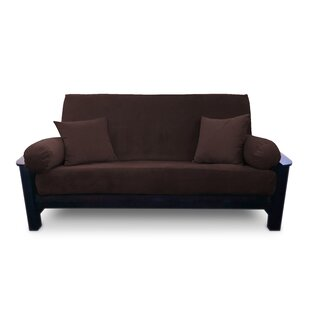 Savings Box Cushion Microsuede Futon Slipcover by Prestige Furnishings Reviews (2019) & Buyer's Guide