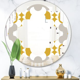 Abstract Design XVIII Quatrefoil Eclectic Frameless Wall Mirror by East Urban Home