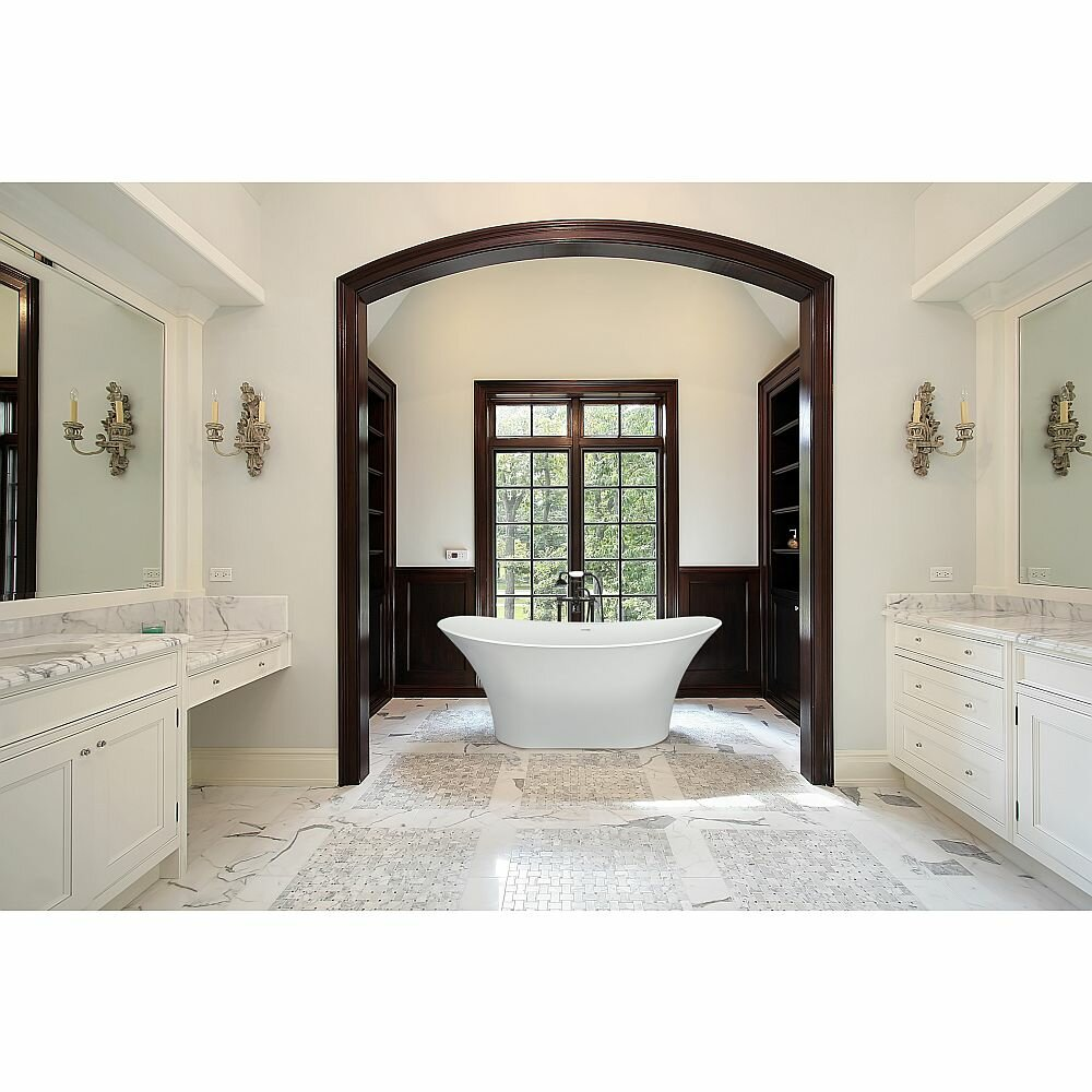 Transolid Anais 60 X 24 Freestanding Soaking Bathtub Wayfair