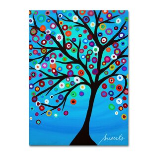 Dancing Tree Of Life Print On Wred Canvas