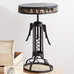 Corkscrew Catcher End Table by Wine Enthusiast