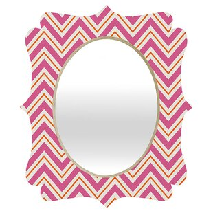 Deny Designs Caroline Okun Berry Pop Chevron Quatrefoil Accent Mirror
