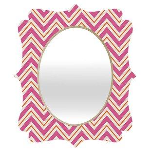 Deny Designs Caroline Okun Berry Pop Chevron Quatrefoil Accent Mirror