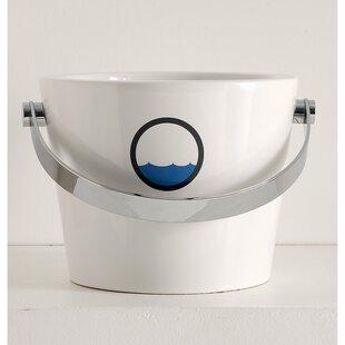 Bucket Ceramic Circular Vessel Bathroom Sink with Overflow ByScarabeo by Nameeks