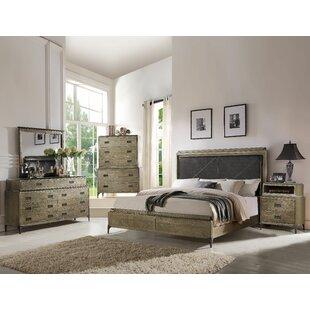 Gracie Oaks Cosima Upholstered Panel Configurable Bedroom Set