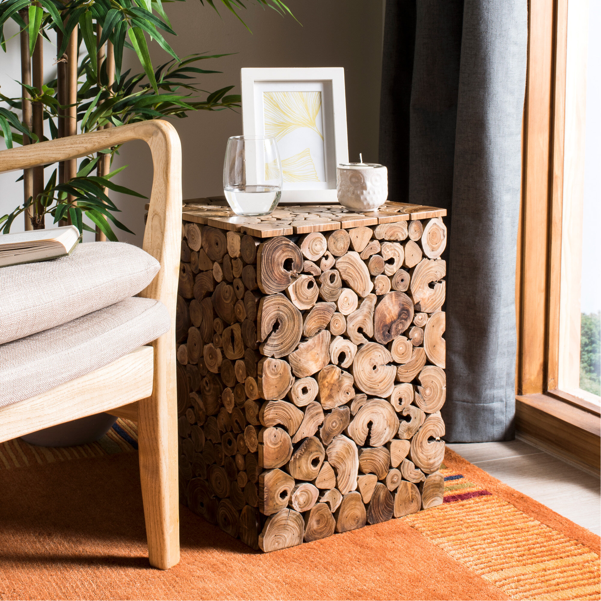 Tong Accent Stool By Union Rustic