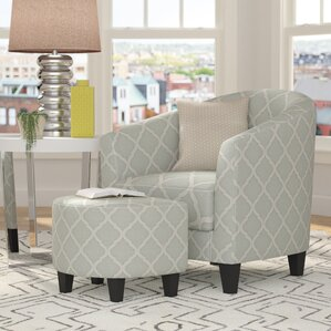 2 Piece Upholstered Barrel Chair and Ottoman SetChair   Ottoman Sets You ll Love   Wayfair. Living Room Chairs With Ottoman. Home Design Ideas