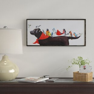 U0027Birds On Dogu0027 Framed Painting Print On Canvas