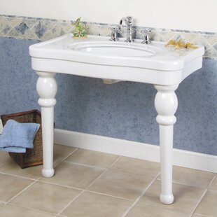 Find the perfect Versailles Ceramic 36 Console Bathroom Sink with Overflow By Barclay