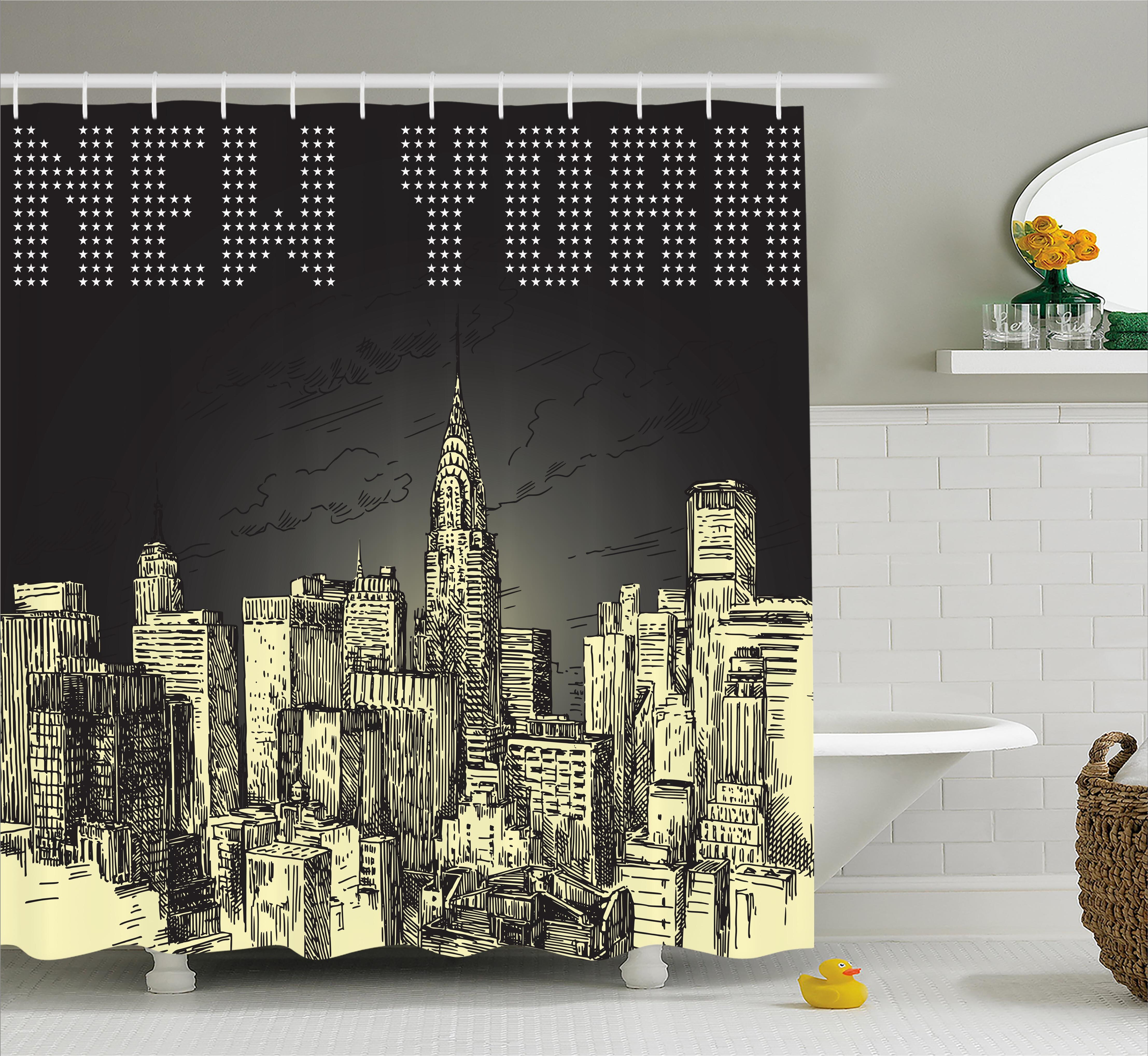Wrought Studio Bequette Grunge Empire State NYC Shower Curtain