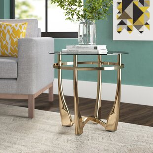 Field Clear Glass End Table