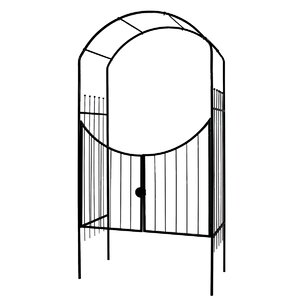 Savannah Steel Arbor with Gate