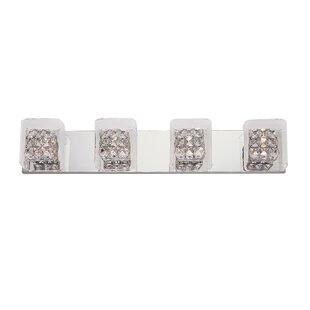 Purchase Glassed Cube 4-Light Bath Bar By TransGlobe Lighting