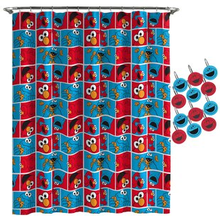 Sesame Street Elmo Cookie Shower Curtain