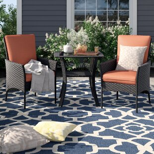 Asherman 3 Piece Bistro Set with Cushions by Sol 72 Outdoor