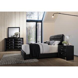 Roundhill Furniture Blemerey Platform Configurable Bedroom Set