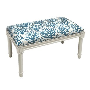 Delane Coral Wood Bench by Highland Dunes