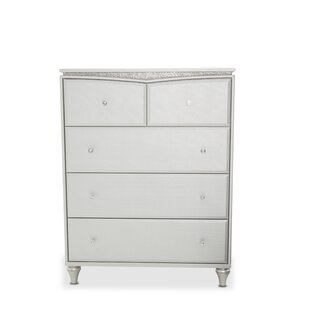 Melrose Plaza Upholstered 5 Drawer Chest