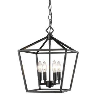 Andover Mills Indigo 4-Light Lantern Pendant