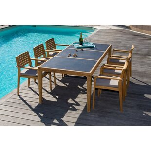Azu 6 Seater Dining Set With Cushions By Sol 72 Outdoor