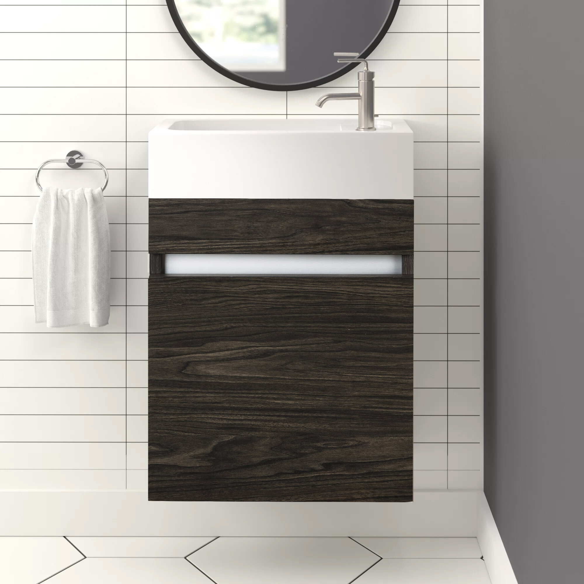 Piccolo 18 Wall Mounted Single Bathroom Vanity Set Reviews Allmodern