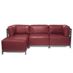 Latitude Run Woodsen Patio Sectional with Cushions