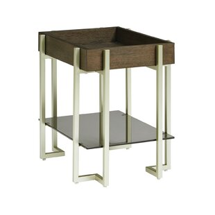 Maone Rectangular End Table with Tray Top