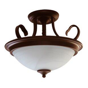 2-Light Semi Flush Mount by Efficient Lighting