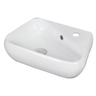 Budget Ceramic 18 Wall Mount Bathroom Sink with Overflow ByAmerican Imaginations