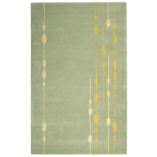Bermondsey Hand-Tufted Light Green Area Rug by Langley Street