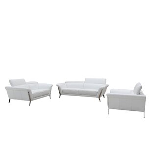 Cana Leather 3 Piece Living Room Set