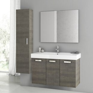 Cubical 2 41 Single Bathroom Vanity Set with Mirror by ACF Bathroom Vanities