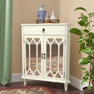 Hannah Wooden Corner Accent Cabinet by Darby Home Co