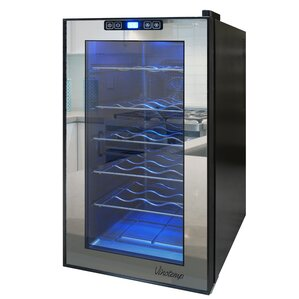 18 Bottle Single Zone Freestanding Wine Cooler by Vinotemp