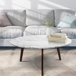 Iola Round Marble Coffee Table By Ivy Bronx