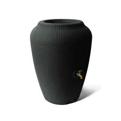 Wicker 50 Gallon Rain Barrel Algreen Color: Black