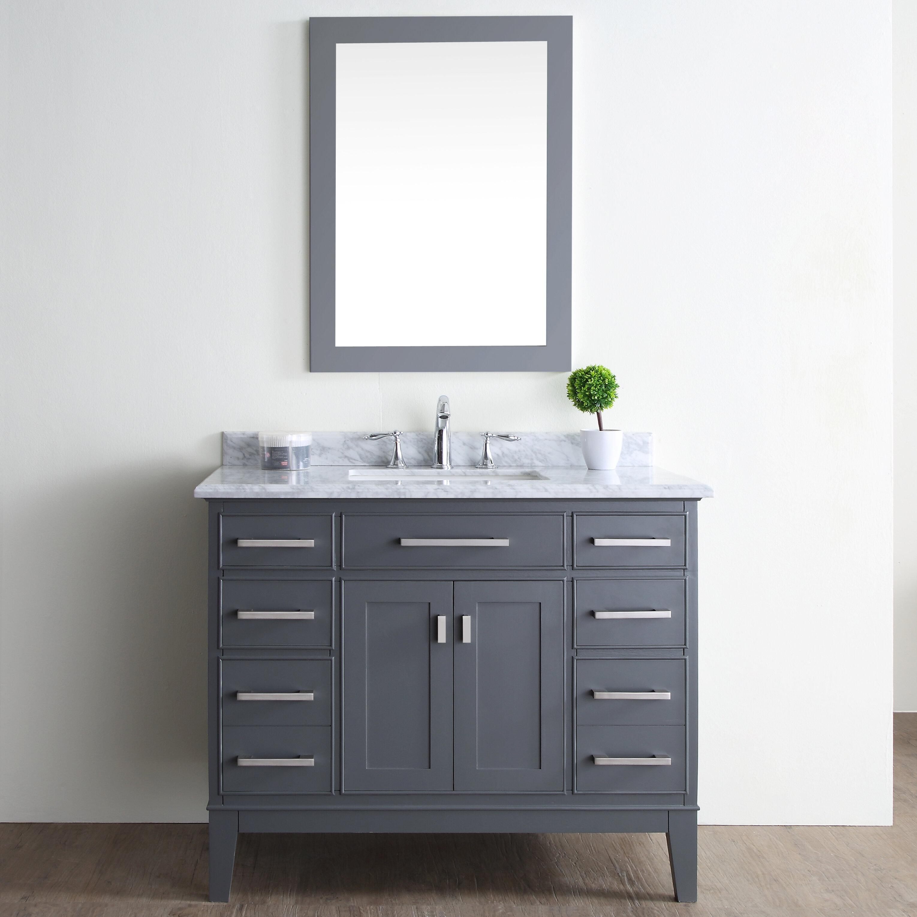 Sets bathroom vanity ari kitchen second - Ari Kitchen Bath Danny 42 Single Bathroom Vanity Set Reviews Wayfair