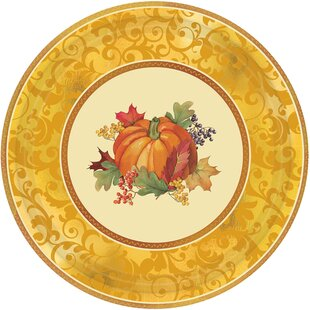 Autumn Bountiful Holiday Paper Appetizer (Set of 8)