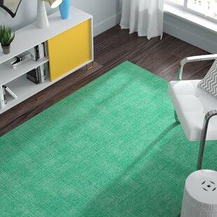 Borica Hand-Loomed Mint Indoor/Outdoor Area Rug