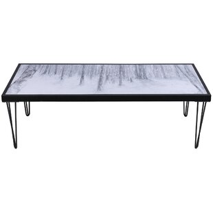 Banach Trees Artwork Top Wood Coffee Table