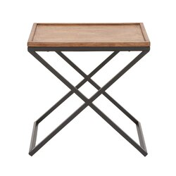 Cole Grey Metal and Wood End Table Reviews Wayfair