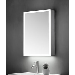 Critchlow 50cm X 70cm Wall Mounted Mirror Cabinet With LED Lighting By Belfry Bathroom