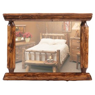 Fireside Lodge Traditional Cedar Log Wall Mirror