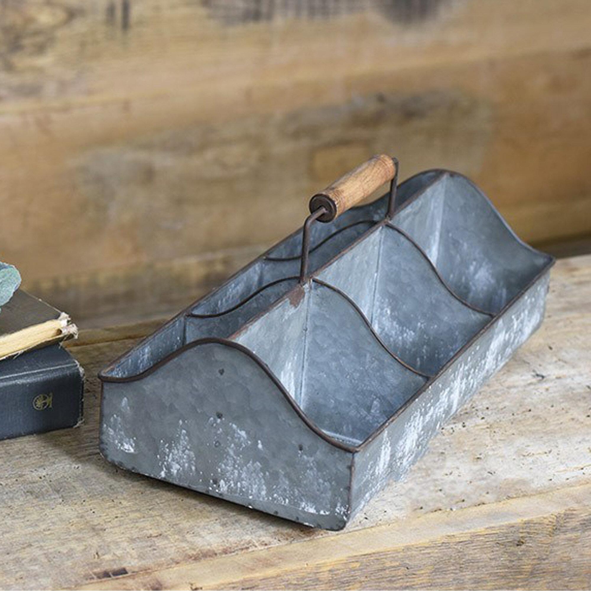Gracie Oaks Cubby Metal Crate Wayfair