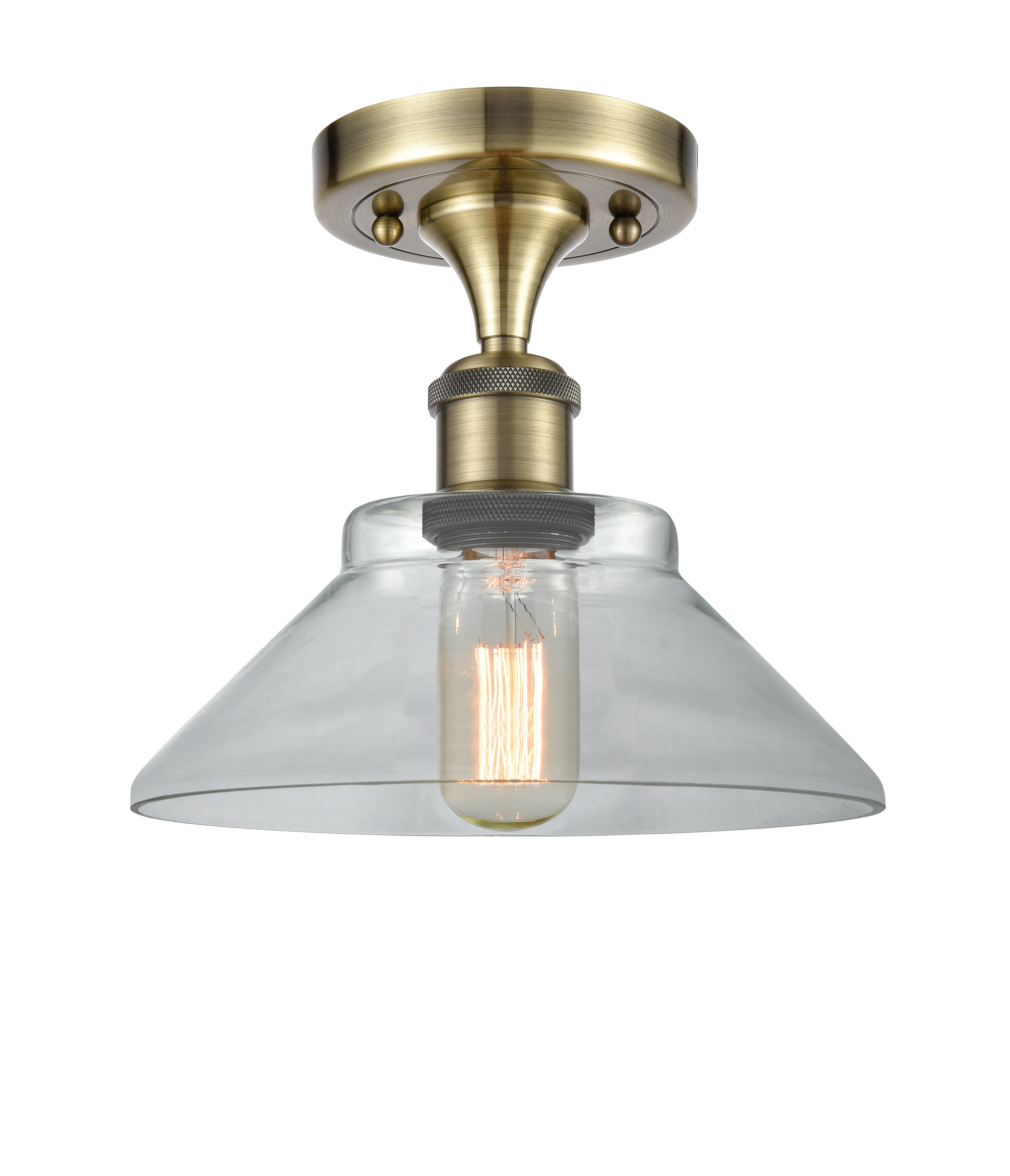 Gracie Oaks Nyle 1 Light 9 Simple Cone Semi Flush Mount Reviews Wayfair
