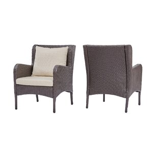 Gracie Oaks Kennelly Patio Chair with Cus..