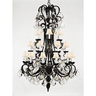 One Allium Way Propst 24-Light Shaded Chandelier